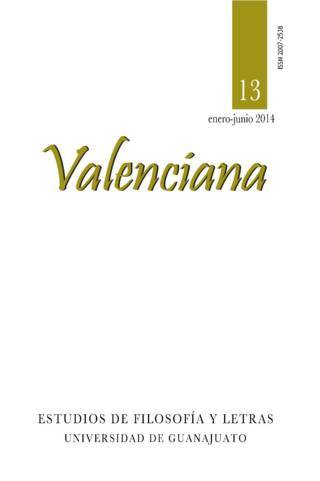 Valenciana núm. 13 (enero-junio)